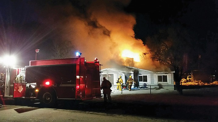 Williams Fire Department responds to a house fire on Fulton Street Feb. 2.