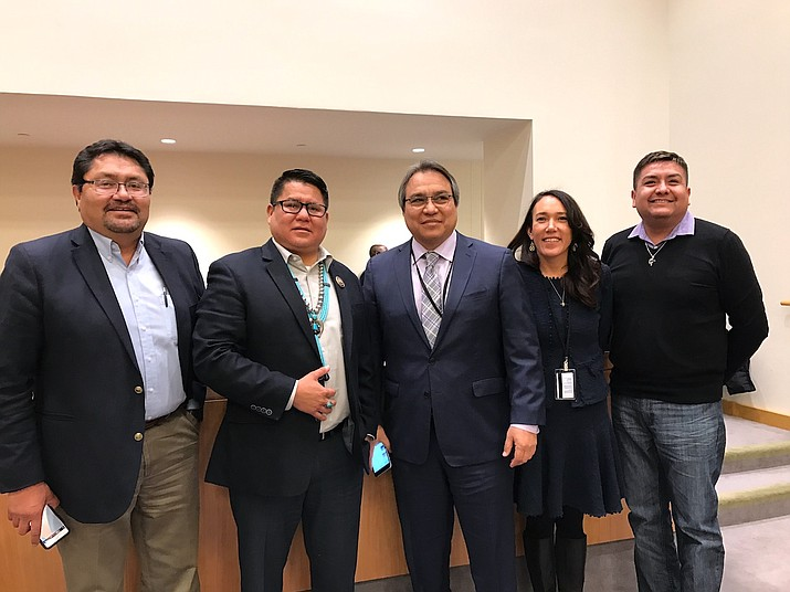 Navajo Nation Delegate Nathaniel Brown spoke to the United Nations reasons why the Navajo Nation, as a sovereign nation, should have representation with the UN. Submitted photo