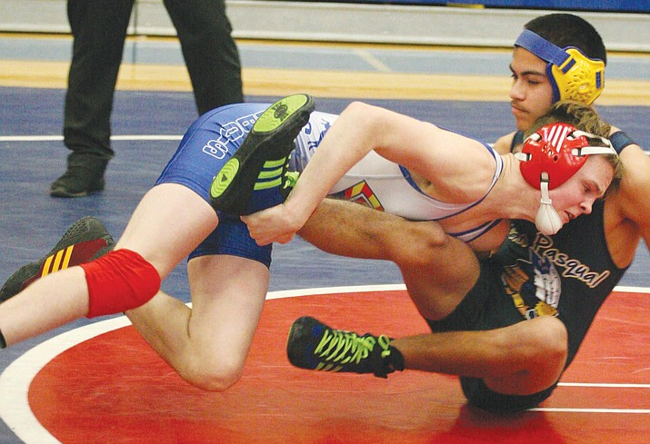 Camp Verde freshman Korben Uhler is 36-1 this season going into the state tournament. (VVN/Bill Helm)