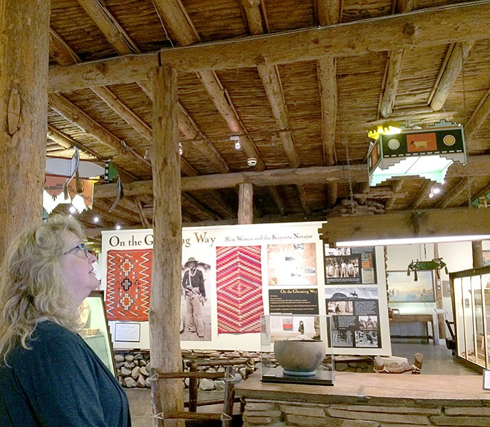 The ceiling made of vigas and latillas at the Smoki Museum often is the first thing people notice as they enter the building, said Cindy Gresser, executive director of Smoki Museum.