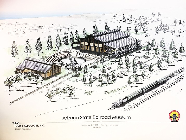 A conceptual site plan for the Arizona Railroad Heritage Park. Construction is scheduled to begin this spring.