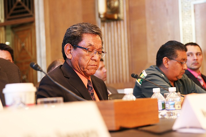Navajo Nation President Russell Begaye told a Senate panel Feb. 8 the  Navajo tribe got passed from agency to agency when it sought federal disaster relief after the Gold King Mine spill in 2015. Photo/Arren Kimbel-Sannit, Cronkite News