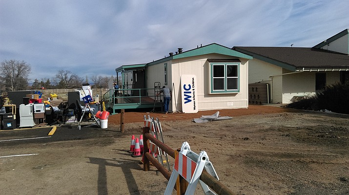 Workers refurbish the trailer of Chino Valley's Women, Infant and Children program's trailier, which is located behind the Chino Valley Public Library. (Courtesy photo)