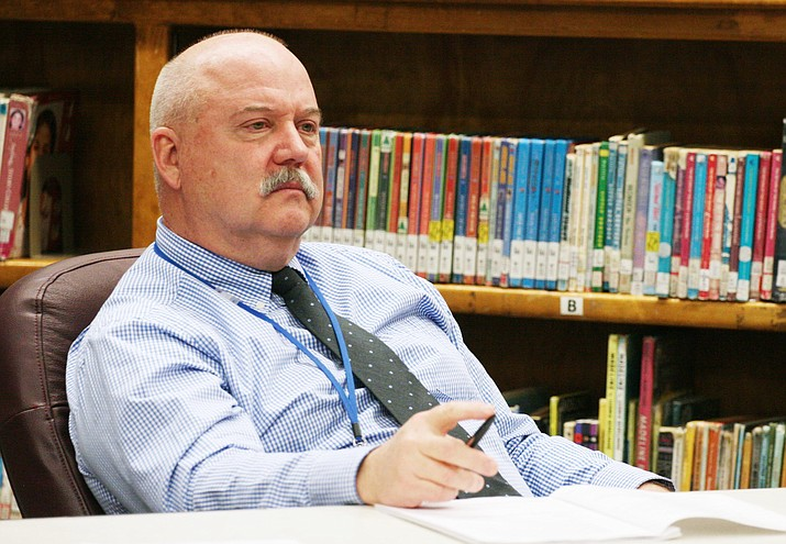 "Camp Verde Unified School District Superintendent Dr. Dennis Goodwin: ""Is it the board members' responsibility to vote for what is popular? Or what is best for the kids? They each voted what they believed to be best for our district. They each shared what they believed. How they voted was a reflection of that."" (Photo by Bill Helm)"