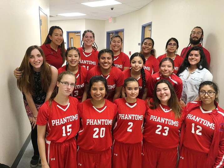 Ranked fifth in the AIA 1A region, the Grand Canyon Lady Phantoms will compete in the state tournament in Phoenix starting Feb. 17. Team members: Karla Amidon, Tyra Briones, Alexus Cannela, Monica Dimas, Karina Ibarra, Melisha Jetter, Makiah Kennedy, Candy Lopez, Cayli Miles, Mariela Montano, Natalie Ramos, Nadia Rodriguez, Valeria Romero, Jessica Ross-Mentor and Betsy Sullivan.
