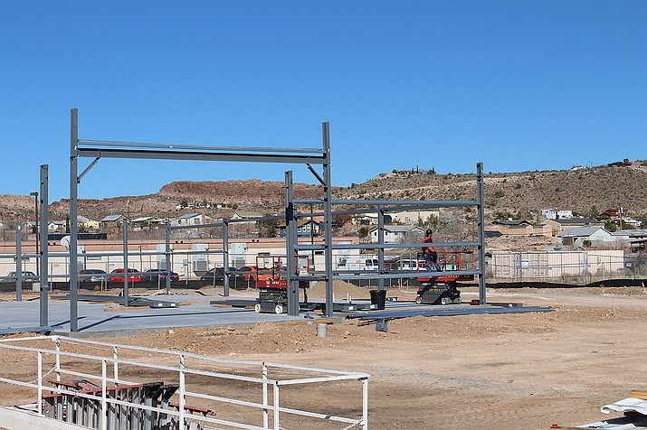 The foundation has been poured and steel framing is going up for the new 7,500-square-foot Dollar General store under construction at 525 W. Beale St. DG Fenn Construction of Phoenix is the general contractor for the $495,000 project. It'll be the fourth Dollar General store in Kingman, along with one in Golden Valley.