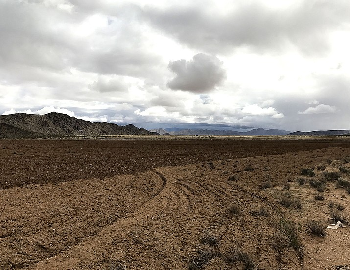 A parcel of land north of Kingman that has been removed of any vegetation and may be future home to residents requiring the use of wells.