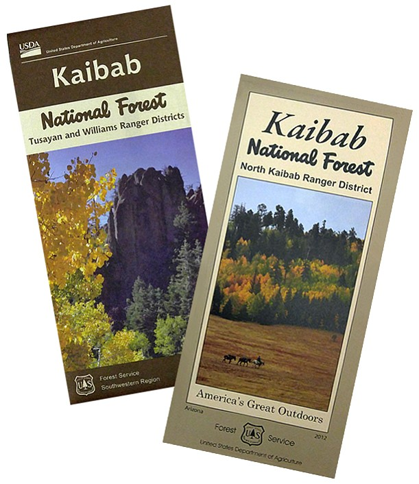 New Motor Vehicle Use Maps are now available for the Williams and Tusayan ranger districts of the Kaibab National Forest.