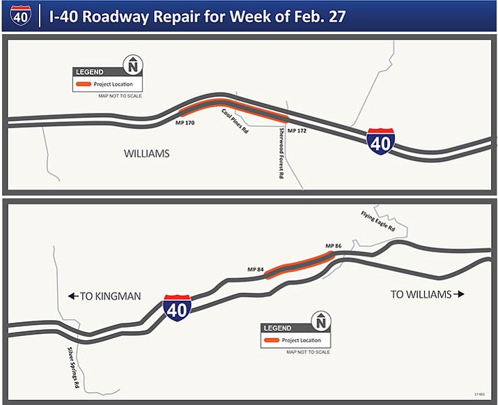 I Repairs Continue West Of Flagstaff The Daily Courier - Us i 40 map