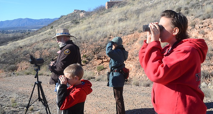 "The National Park Service presented ""Birds, Bugs & Bats,"" a bird walk at the Tavasci Marsh in Clarkdale during one of the the Verde Valley SciTech Festival 2017 programs. VVN/Vyto Starinskas"