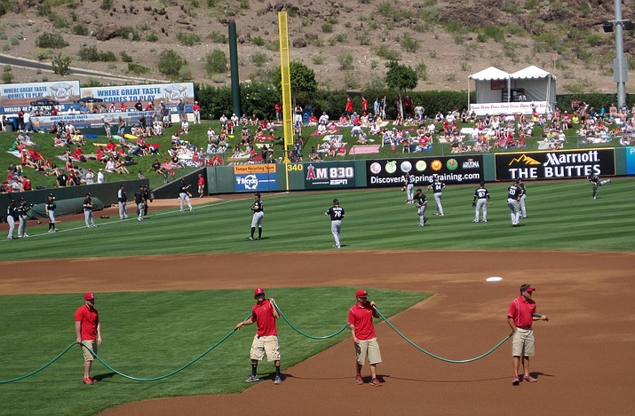 Tempe Diablo Stadium, home of the Los Angeles Angels, is one of the 10 Spring Training sites in the Phoenix metropolitan area. (Photo by Bill Helm)