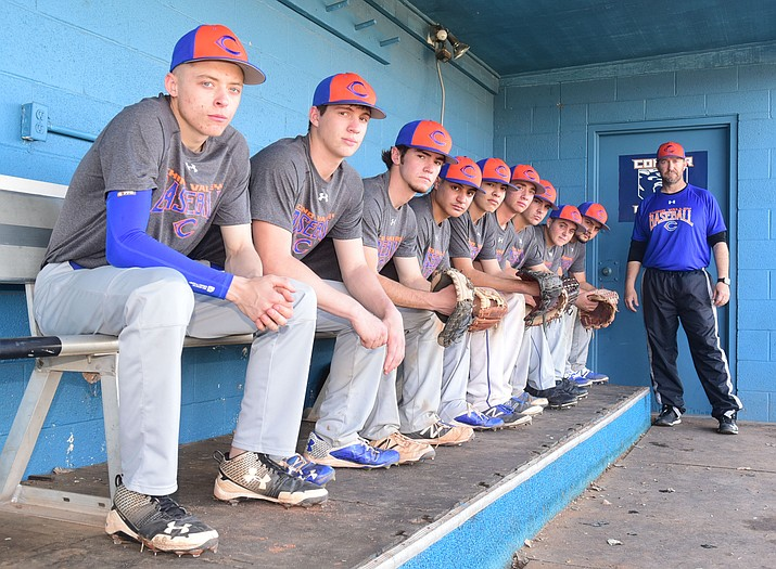 The Chino Valley baseball team begins its season with eight seniors and a three-year junior letterman at practice Feb. 21 in Chino Valley. (Les Stukenberg/The Daily Courier)