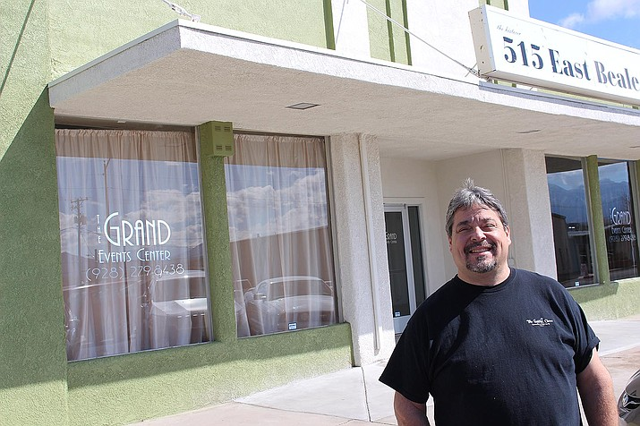 Grant Events Center owner Ron Campbell stands outside the downtown business on Tuesday.