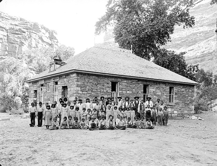 School house in Supai, 1899.