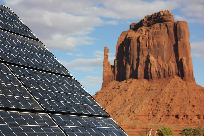 The Navajo Tribal Utility Authority has installed solar systems at more than 200 homes on the reservation but thousands of homes on the Navajo Nation are still without power. Photo/ Katrin Mehler, Courtney Columbus, Brittany Nixon with Cronkite News