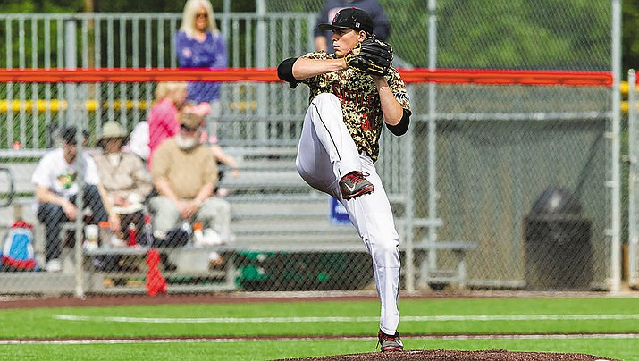 Former Kingman Academy pitcher Tarik Skubal delivers a pitch with his laser focus during action for Seattle University.