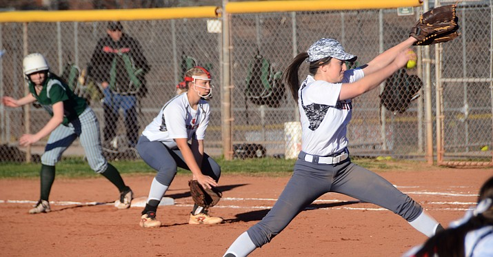 Junior Kaycee Williams pitched 3 innings, giving up 1 hit and striking out three. VVN/Vyto Starinskas)