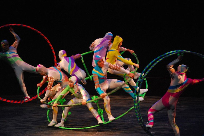 Golden Dragon Acrobats perform tonight, Friday, March 3, at Yavapai College's Performing Arts Center.
