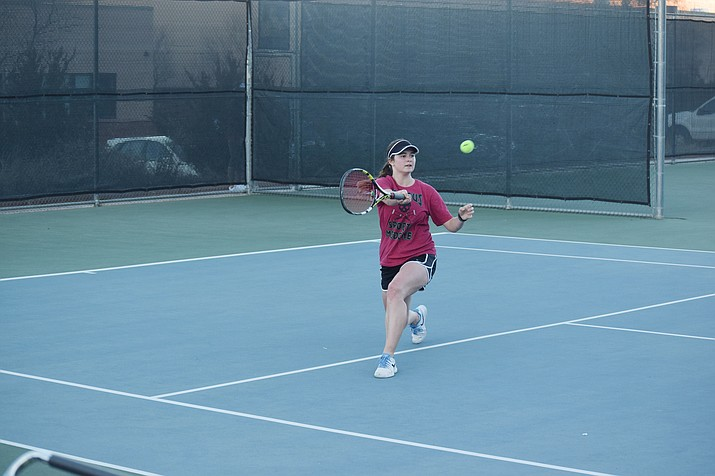 Mingus Union senior Talon Whiteley won the No. 1 match 6-1, 6-2 at Agua Fria.  Whiteley and junior Emma Williams won the top doubles match 8-1 (VVN/James Kelley)