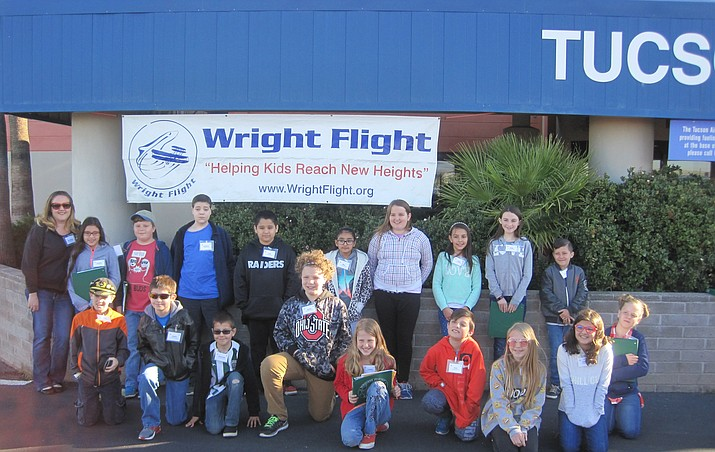 Fifth-grade gifted students from Granville and Lake Valley: (Back Row from left) Mrs. Bowser, Daniella Cruz, Ian Bowser, Matthew Shaver, Jude Tinoco, Mya Corral, Brigit Mitchell, Zada Paulino, Kaley Fisher, John Owens (Front Row from left) Scott Letendre, Austin Ebersole, Dominick Peterson, Louisa Hale, Tyler Vallely, Caly Clark, London Bonelli, Annie Stoddard.