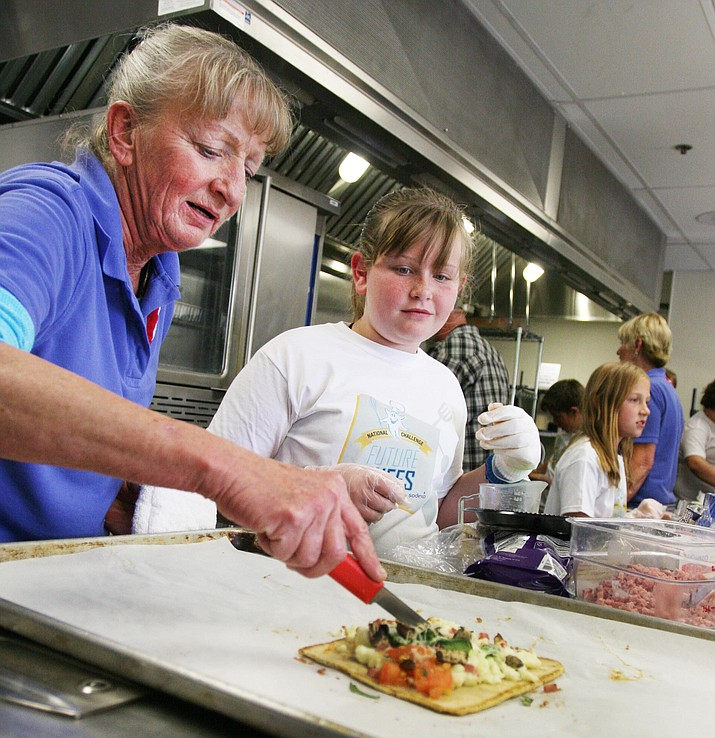 A fifth grade student last year at Cottonwood Elementary School, Macy Randall won Cottonwood-Oak Creek School District's second Future Chef competition, held April 27, 2016 at Mountain View Preparatory in Cottonwood. (Photo by Bill Helm)