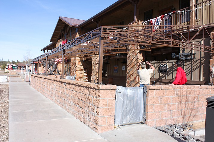 Big E Steakhouse is undergoing a series of renovations before the busier spring and summer season starts at the Grand Canyon. Some improvements include enlarging their outdoor space, making it accessible year-round by enclosing the existing patio.