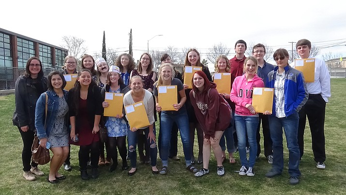Chino Valley High School students are competing in a statewide history contest.