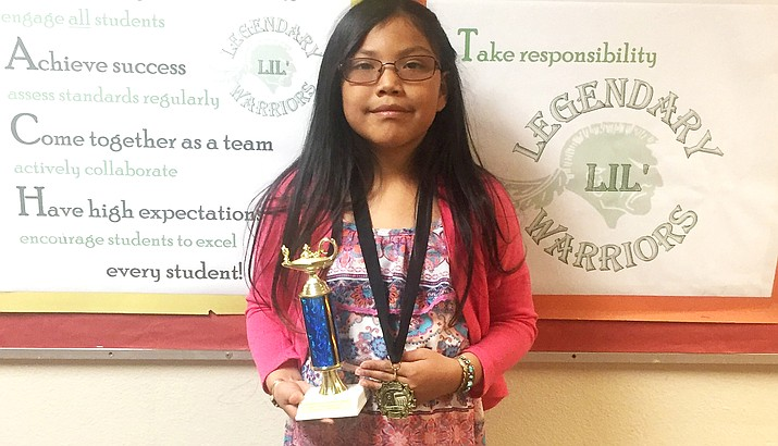 Third grader Katherine Nez was named grand champion Mathleague winner for Tuba City Primary 2017.