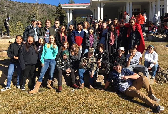 Williams Young Life students take a break during the winter camp in December of 2016.