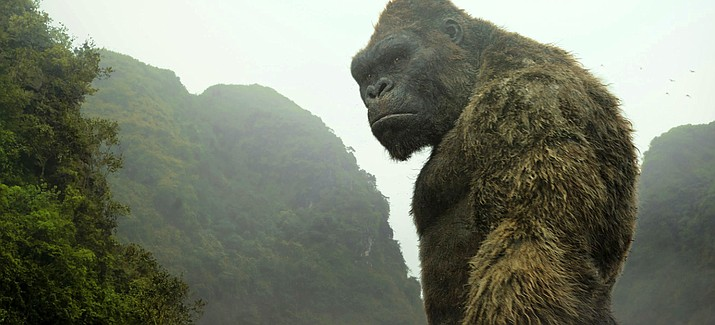 "This image released by Warner Bros. Pictures shows a scene from, ""Kong: Skull Island."""