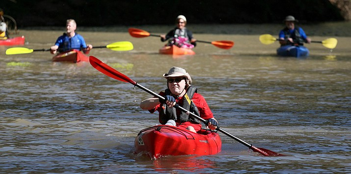 With 17 miles of the Verde River flowing through Camp Verde, it makes sense that at least one component of the 17th annual Spring Heritage Pecan and Wine Festival be water-related. (VVN/Bill Helm)