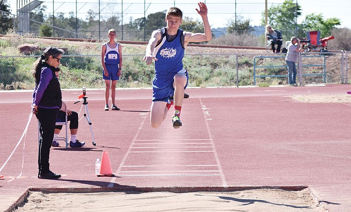 Camp Verde junio Nate Schultz tallied a provisional state qualifying mark at the 13th Annual NPA Skydome Classic at NAU. He was an automatic qualifier for state in the triple jump and finished ninth in the high jump.. (VVN file photo)