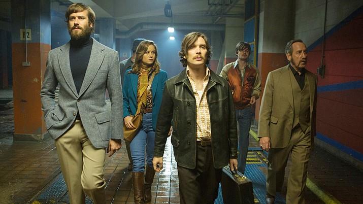'Free Fire' stars Enzo Cilenti, Sam Riley, Michael Smiley and Brie Larson. A24