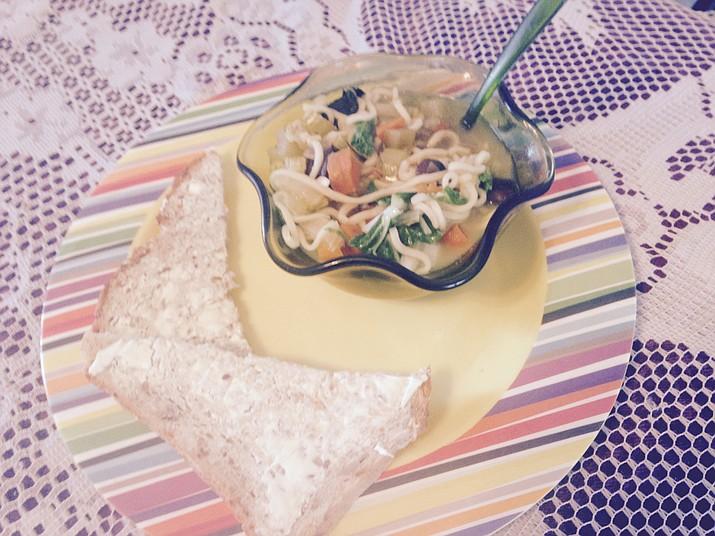 Bok Choy Noodle Soup