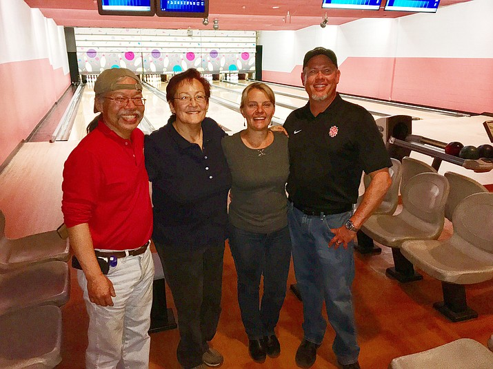 Iron Turds team members Calvin Liu, Yvonne Trujillo, Clarinda Vail and John Vail.