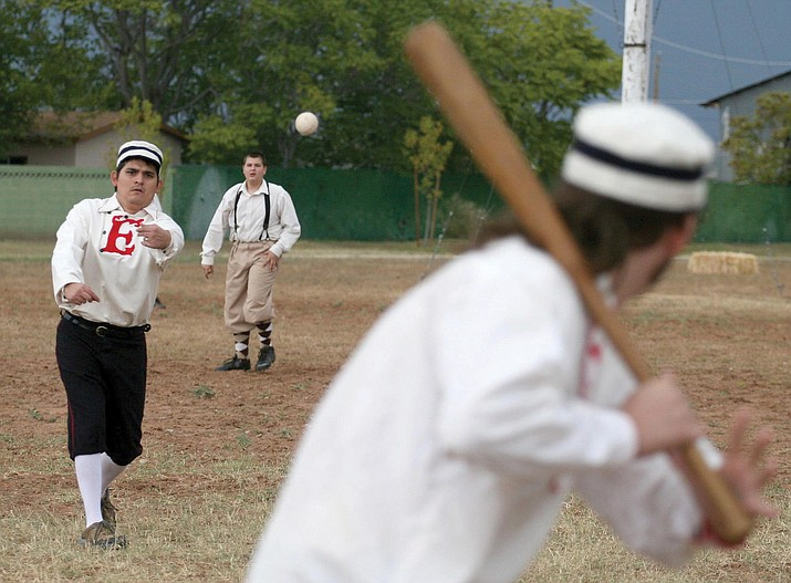 For a real, live interactive event, anyone interested in playing baseball like it was played in 1860 can take part in the Fort Verde Excelsiors games at 10 a.m. or at noon Saturday, March 18 by calling Brian Lane, pictured, assistant park manager at Fort Verde at 928-567-3275. (Photo by Bill Helm)