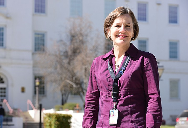 New VA director Barbara Oemcke Friday, March 17 in Prescott.  (Les Stukenberg/The Daily Courier)