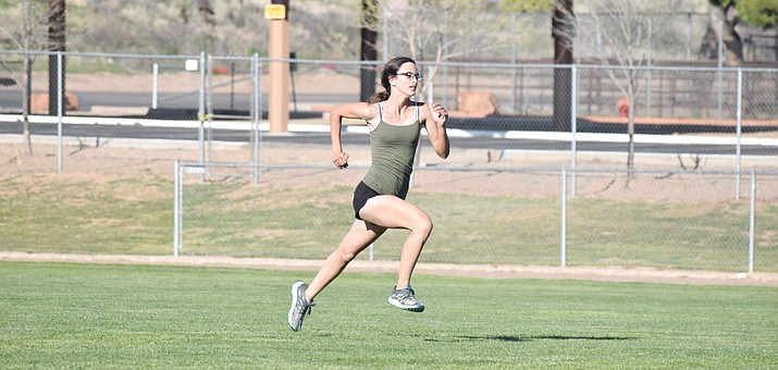 Camp Verde senior captain Alana Neary recorded a personal record in the first meet of the year and then provisionally qualified for state at the NPA Skydome Classic at NAU. (VVN/James Kelley)