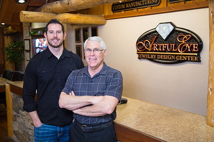 Kevin O'Neill, left, and Dave Rabellino of Artful Eye Jewelers.