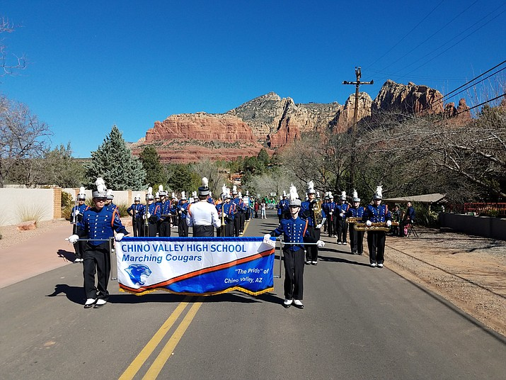 The CVHS Marching Cougars recently performed in the Sedona St. Patrick's Day parade.
