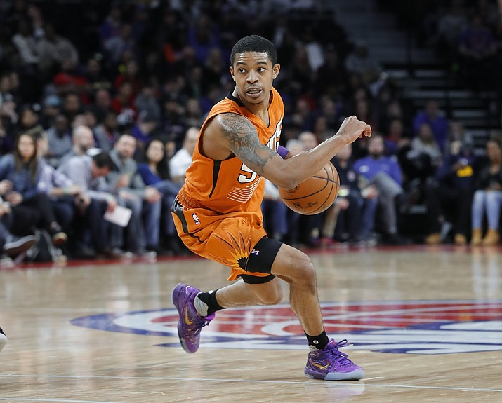 Tyler Ulis scored 17 points in the loss to the Detroit Piston on Sunday, March 19, 2017.