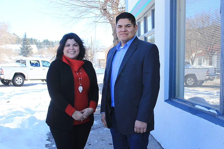 Newly elected Treasurer Sarah Benatar and Assessor Armando Ruiz introduced themselves at the monthly Williams Rotary meeting in February.