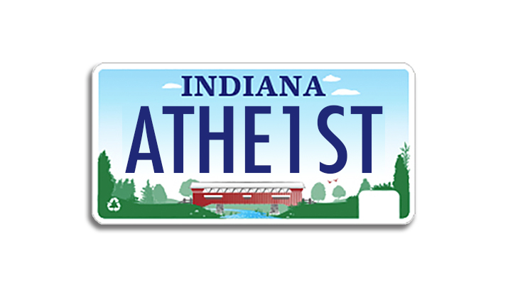 After Fight Indiana Man Receives Athe1st License Plate