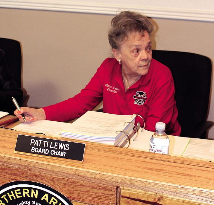 Northern Arizona Consolidated Fire District Board Chairwoman Patti Lewis responds to criticism over the board's process of hiring former fire chief Wayne Eder.