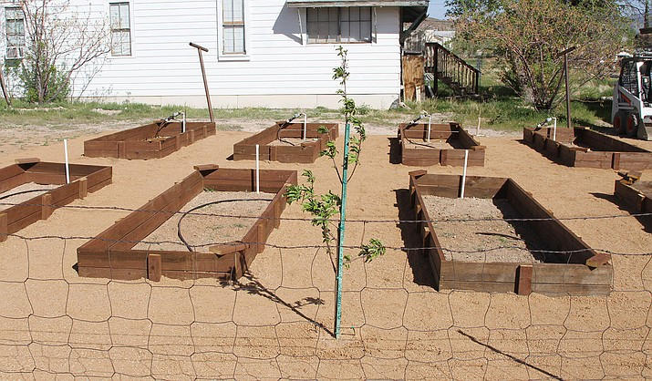 The Boys and Girls Club garden on the corner of Spring and First streets on Tuesday. Soon, the new garden will be filled with children learning how to garden and give.