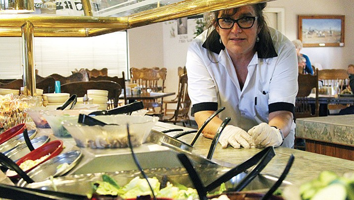 Rhonda Chapman, owner of Calico's Restaurant, at her restaurant on Friday.