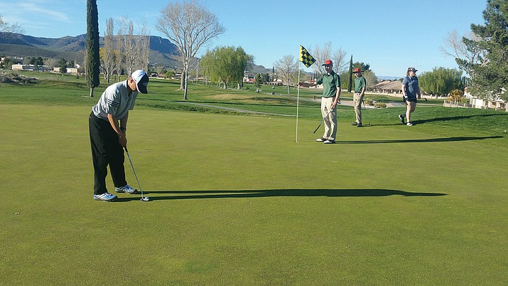 The Kingman Academy golf team outplayed Williams on March 13 at Cerbat Cliffs Golf Course, 211-277.