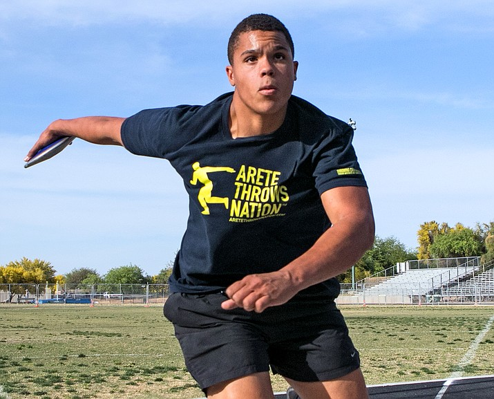 Turner Washington threw the discus 215-feet, 8-inches at Saturday's Chandler rotary Invitational to break the Arizona state record that had been on the books for 30 years. Photo courtesy of Arizona Daily Star
