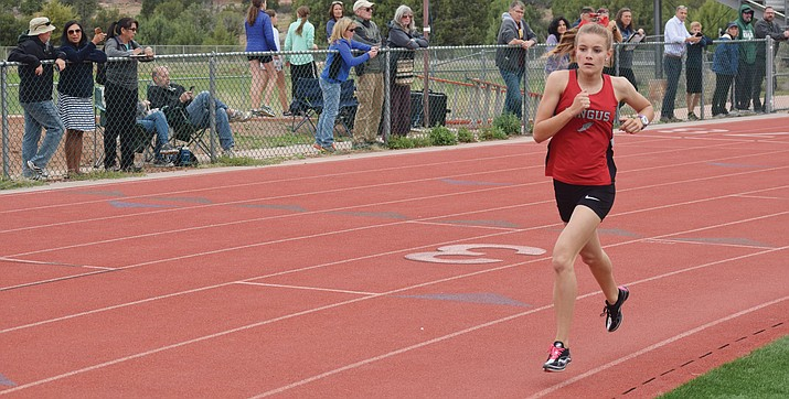 Mingus sophomore Meg Babcock is currently ranked 4th in the state among Division III runners at 800 meters. (VVN file photo)