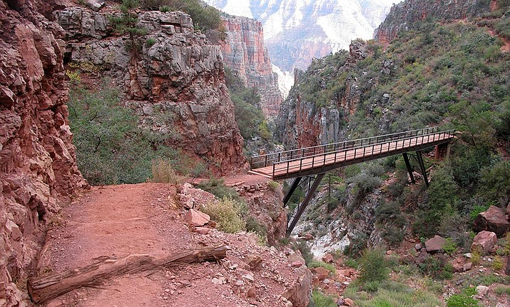 North Kaibab Trail is now open to foot traffic, but repairs will continue and may cause delays.